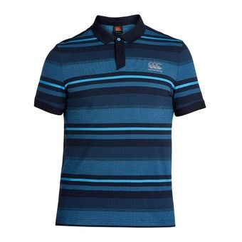 Polo MC homme JACQUARD majolica blue/sky captain