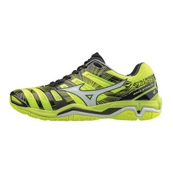 Chaussures handball homme WAVE STEALTH 4 safety yellow/white/black