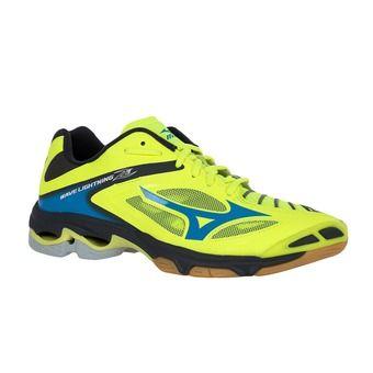 Zapatillas voleibol hombre WAVE LIGHTNING Z3 safety yellow/atomic blue/dark shadow