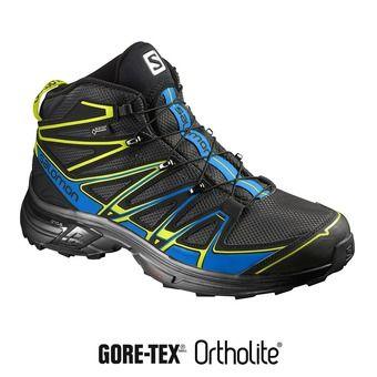 Zapatillas de senderismo hombre X-CHASE MID GTX®  black/bright blue /gecko green