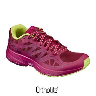 Chaussures running femme SONIC AERO tibetred/sangria/lime punch