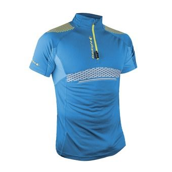 Maillot MC 1/2 zip homme PERFORMER XP electric blue