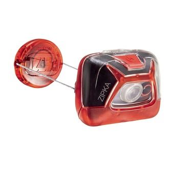Linterna frontal ZIPKA® SS17 rojo