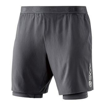 Short 2 en 1 de compression homme DNAMIC tarmac
