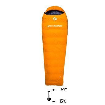 Saco de dormir 5°C/-15°C TREK Tk I naranja/gris