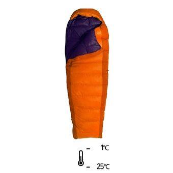 Sac de couchage -1°C/-25°C TREK Tk II orange/prune
