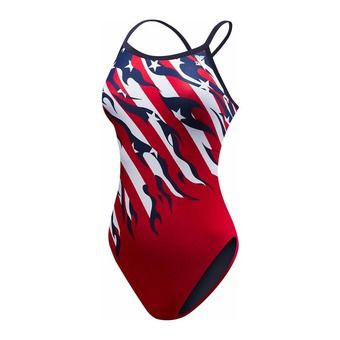 Maillot femme ALLEGIANCE DIAMONDFIT red/white/blue