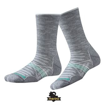Chaussettes femme PHD OUTDOOR LIGHT CREW light grey
