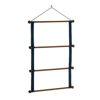 Porte-tapis en bois blue