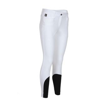 WOMAN BREECHES WITH X-GRIP KNEE PATCH ASH WHITE