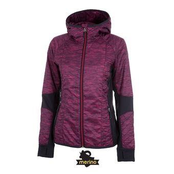 Veste à capuche femme HELIX pop pink/stealth