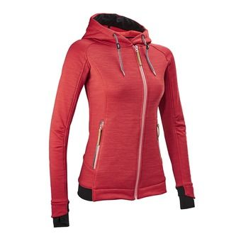 Sudadera mujer TEMPEST red guava