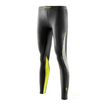 Collant de compression femme DNAMIC black/limoncello