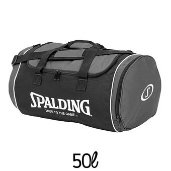 Sac de sports 50L TUBE anthracite/noir/blanc