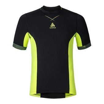 Maillot MC homme CERAMICOOL PRO black/safety yellow