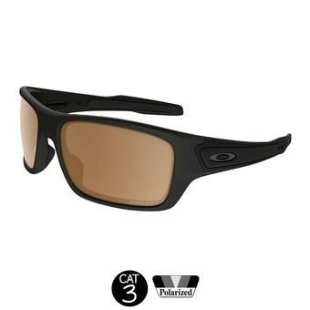 Gafas de sol polarizadas TURBINE matte black w/ prizm tungsten