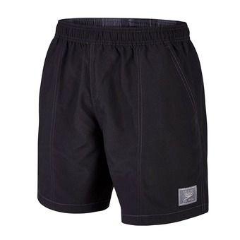 Short de bain homme CHECK TRIM LEISURE black/grey