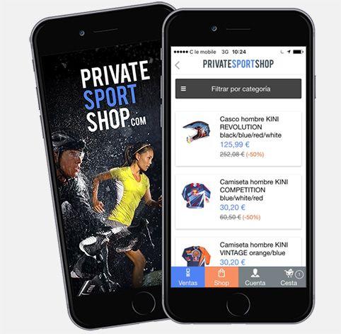 Aplicación Privatesportshop