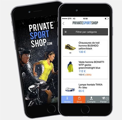 Application Privatesportshop