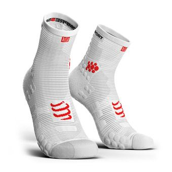 Compressport PRORACING V3 RUN HIGH - Chaussettes white