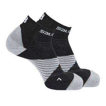 Salomon SPEED PRO - Socks - Men's - black/wht