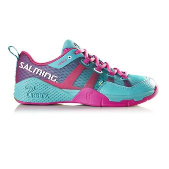Chaussures indoor femme KOBRA turquoise/rose