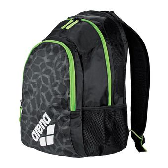 Mochila 30L SPIKY 2 black/fluo green