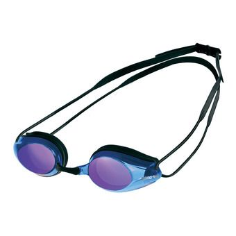 Arena TRACKS MIRROR - Swimming Goggles - black/blue multi/black