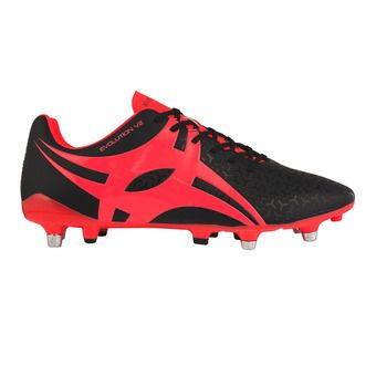 Botas de rugby hombre EVOLUTION negro/rojo