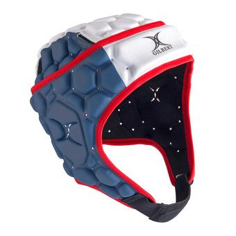 Gilbert FALCON 200 - Casco de rugby hombre blue/white/red