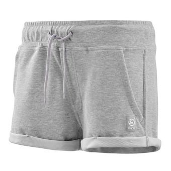 Skins ACTIVEWEAR OUTPUT SPORT - Short mujer silver/marle