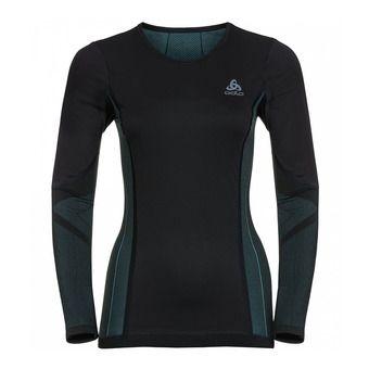 Camiseta térmica mujer PERFORMANCE WINDSHIELD XC LIGHT black/blue radiance