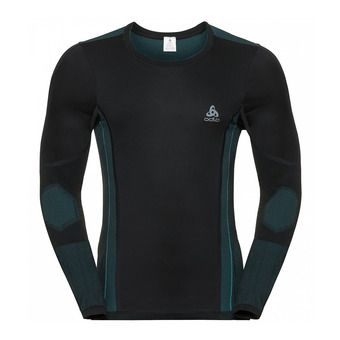 Odlo PERFORMANCE WINDSHIELD XC LIGHT - Base Layer - Men's - black/lake blue