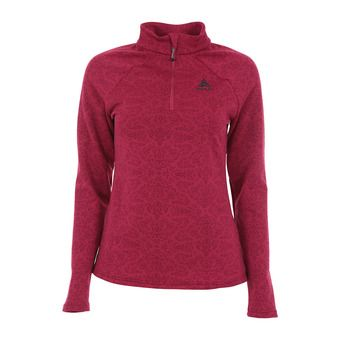 Sweat 1/2 zip femme GOD JUL sangria aop