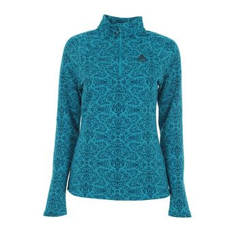 Sweat 1/2 zip femme GOD JUL algiers blue aop