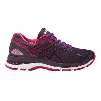 Asics GEL-NIMBUS 19 - Chaussures running Femme black/cosmo pink/winter bloom