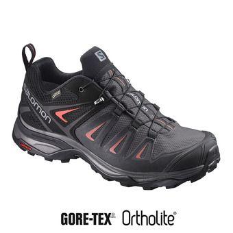 Salomon X ULTRA 3 GTX - Hiking Shoes - Women's - magnet/black/red
