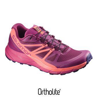 Zapatillas de trail mujer SENSE RIDE sangria/living coral/pink