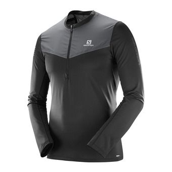 Salomon FAST WING - Camiseta hombre black/forged