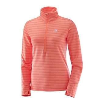 Maillot ML femme LIGHTNING fluo coral/beet red