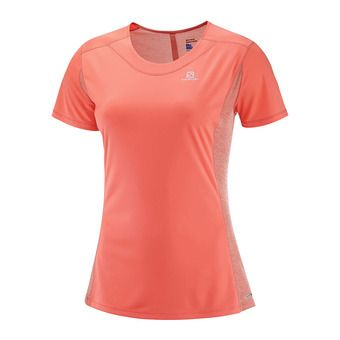 Camiseta mujer AGILE fluo coral/fusio
