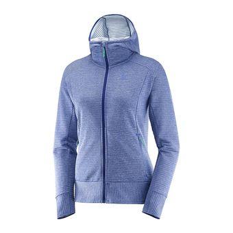 Veste à capuche femme RIGHT NICE medieval blue