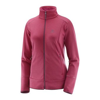 Veste polaire femme DISCOVERY FZ beet red