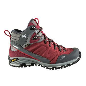 Millet HIKE UP MID GTX - Hiking Shoes - Women's - burgundy