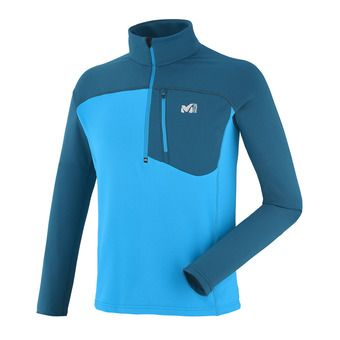 Sweat 1/4 zippé homme TECHNOSTRETCH electric blue/poseidon