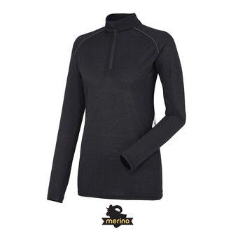 Camiseta térmica mujer LD C WOOL BLEND 150 black