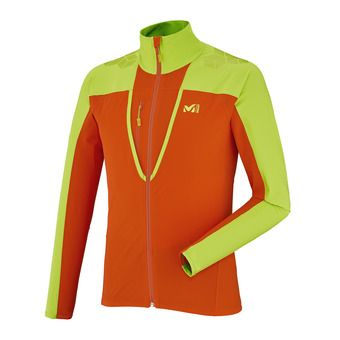 Veste homme TOURING INTENSE orange/acid green