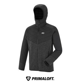 Veste à capuche Primaloft® homme DUAL ICELAND WOOL deep heather/noir