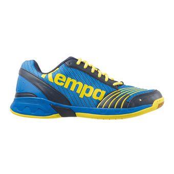 Chaussures handball homme ATTACK THREE bleu profond/jaune citron
