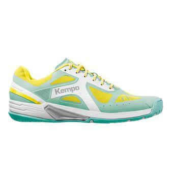 Chaussures handball femme WING LITE turquoise/jaune spring